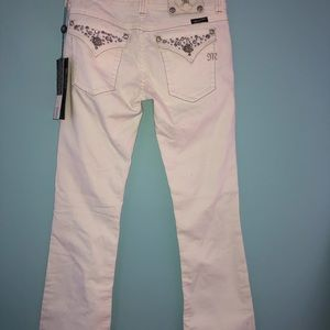 Miss Me White Stretch Bootcut Jeans